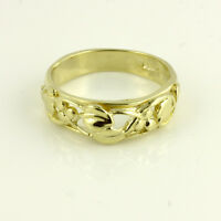 9ct Yellow Gold Welsh Design Tree of Life Ring - Finger Size H to P