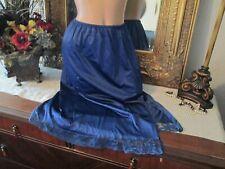Ashley Taylor Lacy Nylon Half Slip Size lingerie Navy blue