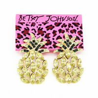 Women's Jewelry Crystal Rhinestone Pineapple Ear Stud Betsey Johnson Earrings