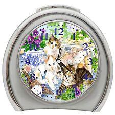 Cat Kitten Table Desk Alarm Clock Night Light g1027