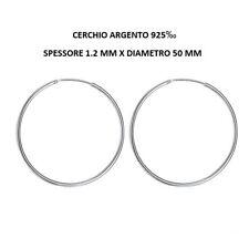 Orecchini Cerchio Argento 925 1.2 mm X 50 mm