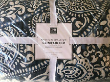 Pottery Barn Teen Mystic Medallion Comforter Full/Queen Faded Navy NEW