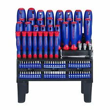 WORKPRO 100PC Screwdriver Multi-Bits Sockets Set Slotted Phillips USA Free Ship