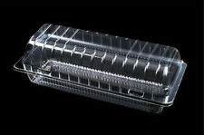 """30 Clear Plastic 7"""" Food Take Out Clamshell Container Cake Cookie Favor  #MS-05"""