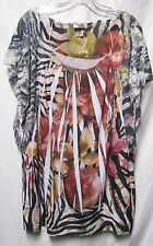LAVISH 2X 18/20 career top shirt blouse bust 50 Modern Fabric with touch of lace
