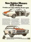 1973 PETER BROCK HQ HOLDEN MONARO GTS 4 DOOR A3 POSTER AD SALES BROCHURE ADVERT