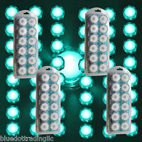 48 Turquoise LED Submersible Underwater Tea lights TeaLight Flameless US Shipper