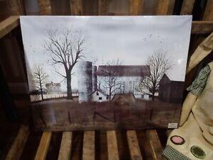 "Daybreak by Billy Jacobs, Canvas Picture, 12""x16"", Farm Barn Farmhouse Silo"