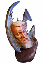 Florida Keys Original Rick Cain Elder Ocean Sea Spirit Old Man Wood Sculpture US