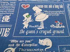 Alice in Wonderland, antique blue, 1/2 yard, pure cotton fabric