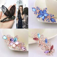 Fashion Women Girls Crystal Pearl Hair Clip Barrette Hairpin Hair Accessories