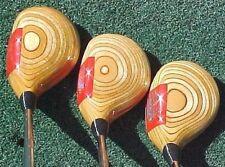Ping Eye Golf Clubs Woods set Natural Blonde Driver 3 5 w New Winn Dri-Tac Grips