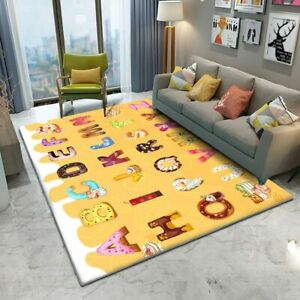 High Quality Area Rug Children's Flannel Carpet Kids Animal Puzzle Game Learn