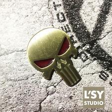 3D Metal Polish Punisher Skull Car Sticker Decal Emblem Badge Laptop Punk BRASS