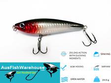 STICK BAIT SINKING HARD BODY FISHING LURE - GREAT FOR BIG FISH! 110mm 24g Bait
