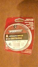 Spiderwire Stealth-Braid Moss Green Superline 40 lb. 500 yds. Upc: 022021601240