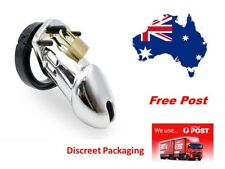 CB 6000 Poly-carbonate Cock cage Male Chastity Device Silver.... Free post