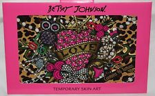 Betsey Johnson TEMPORARY Skin Art Tattoos* Roses, Skulls, Lips, Hearts & More *