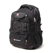 "Men Women 15.6"" Laptop bag Case Backpack Rucksack Outdoor Travel Bag Swiss gear"