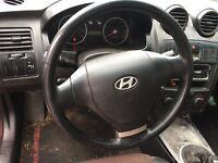 2001 02 03 04 05 06 Hyundai Tiburon Steering Wheel Horn Button