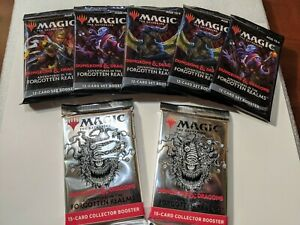 Magic the Gathering: Forgotten Realms Pack Bundle-2 Collectible & 5 Set Boosters