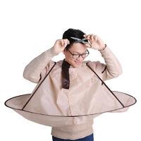Adult Self Hair Cutting Styling Foldable Cloak Umbrella Cape Salon Barber New