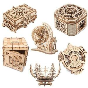 Mechanical Wooden Puzzle Perpetual Calendar Creative 3d Model Diy Building Kit