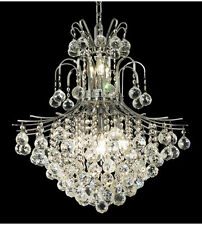Palace Contour 11 Light Pendant Crystal Chandelier Lighting Fixture - Chrome