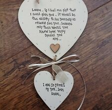 Shabby personalised Gift Chic Double Heart Plaque Gift For Special Daughter..
