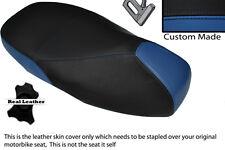 Royal Blue & Negro Custom encaja Piaggio Vespa 125 200 300 Gts Doble Cubierta De Asiento