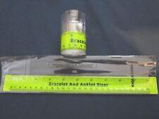 slap on bracelet wrist or ankle sizer, steel & plastic, up to 10 inch, free ship