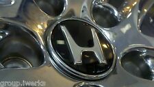 BRAND NEW! OEM Genuine Honda alloy rim wheel black center cap chrome emblem ring