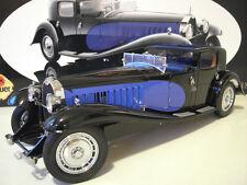 BUGATTI ROYALE coupe de ville type 41 bleu/noir 1/18 BAUER voiture miniature col