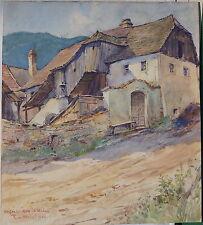 Rudolf von Meissl, Weissenkirchen, Wachau, Aquarell, 1941