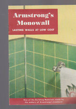 Armstrong's Monowall Lasting Walls at Low Cost  Booklet 1949 Lancaster Pa