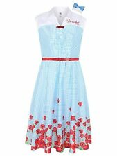 Adult Cute Dorothy Fancy Dress Wizard Of Oz Costume Ladies Womens UK size 8-10