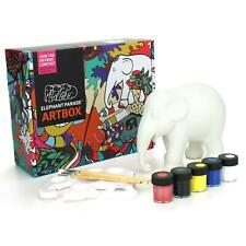 More details for elephant parade ornament collectable paint your own elephant art box 15cm