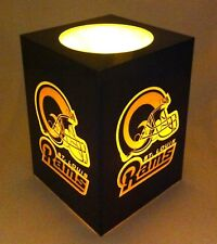 NFL 10cm Rams Logo LED Flameless Candle with Blow On/OFF Sensor Football New