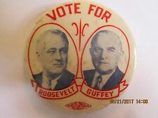 "CELLO BUTTON PIN 2 1/8"" FRANKLIN ROOSEVELT & GUFFEY JUGATE -HAKE $492"