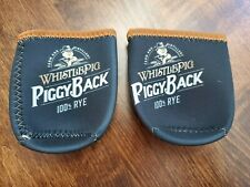 Lot of 2 Whistlepig Where's my piggyback ? 100% rye Can Beer Koozie Koozies Ec