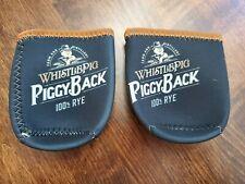 Lot of 2 Whistlepig Where's my piggyback ? 100% rye Can Beer Koozie Koozies Ec