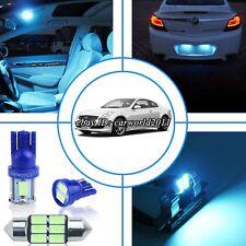 9x Aqua Ice Blue LED Interior Light Package Kit For Infiniti G35 Coupe 2003-2007