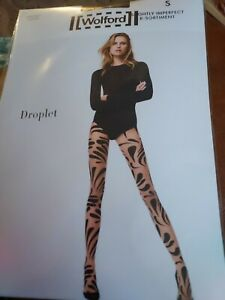 Wolford Droplet Tights, black/black, Small, Slight imperfect