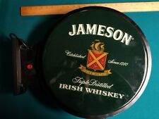 Jameson Irish Whiskey Double Sided Lighted Wall Hanger Sign Bar Man Cave Pub