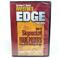 Carleton H. Sheets Investor's Edge How Skyrocket Your Profits DVD - BRAND NEW!