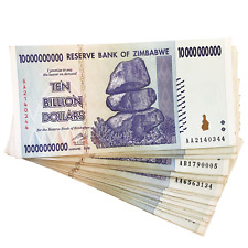 Zimbabwe One 10 Billion Dollar Bill Banknote Paper Money World Currency