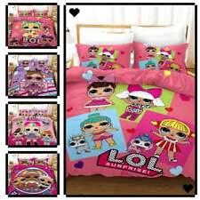 Newest LOL Design Bedding Set 3PC Of Duvet Cover Pillowcase Single Double King@