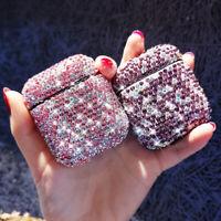 Bling Glitter Diamond Rhinestone Earphone Case Cover for Apple AirPods 2 1 Pro