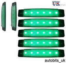 5 pcs 12V SMD 6 LED GREEN SIDE MARKER LIGHTS POSITION TRUCK TRAILER LORRY CAB