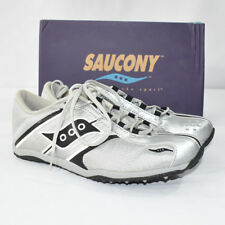 Saucony Kalenjin Men's Track Spikes Racing Shoes Silver Gray Black New SIZE 8.5
